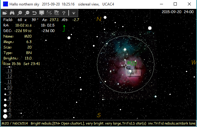 HNSKY showing M20