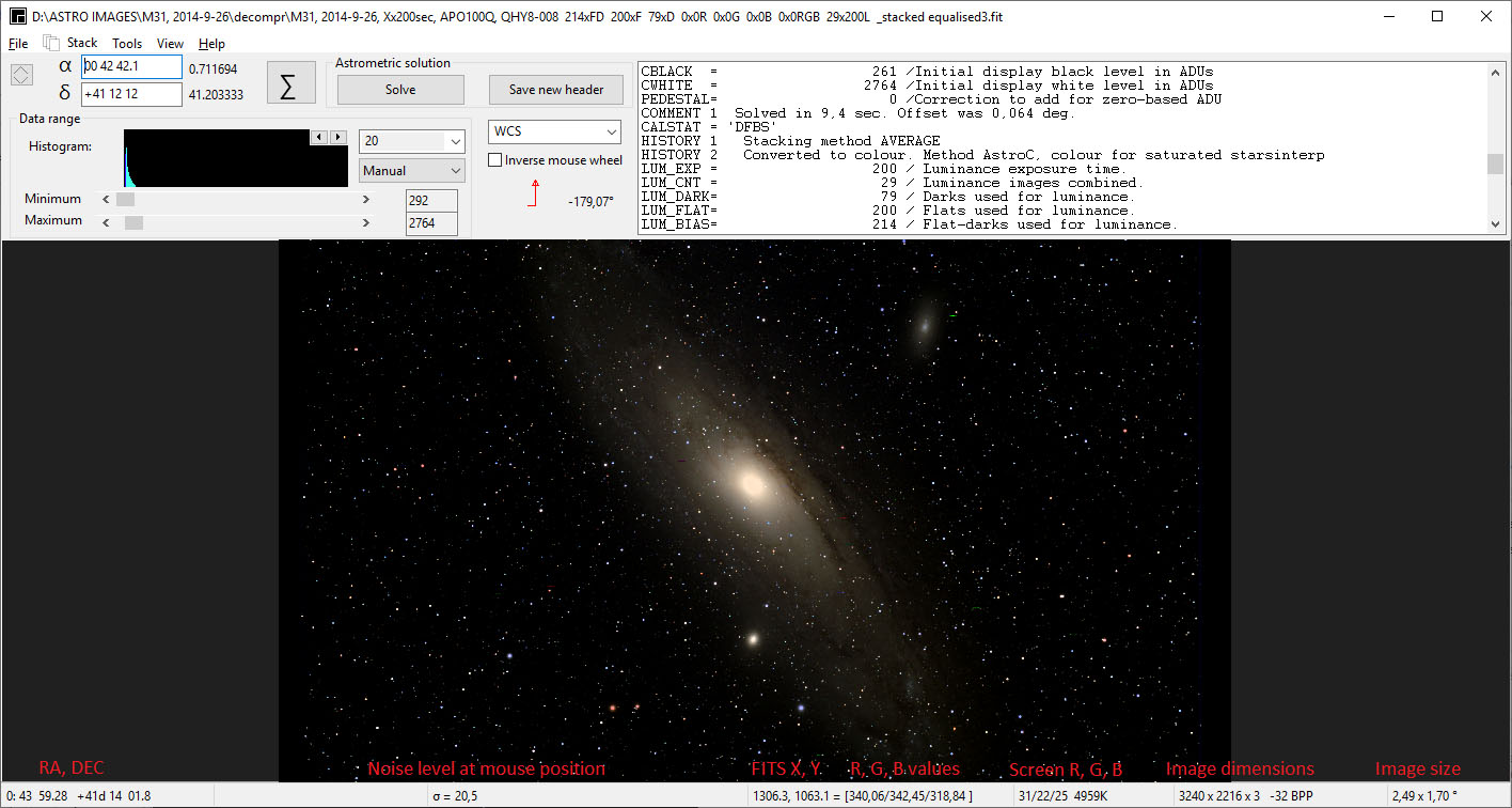 ASTAP, Astrometric Stacking Program